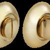 Завертка сантехническая MORELLI MH-WC SG/GP (Матовое золото/золото)
